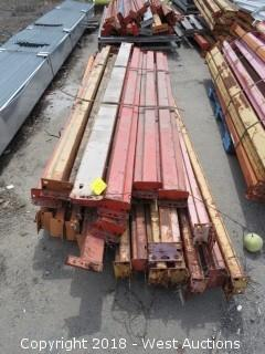 (1) Pallet of 8'-10'L Pallet Racking Sections