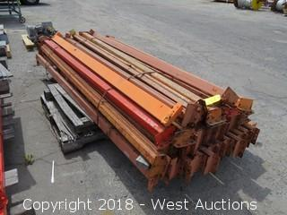 (1) Pallet of 9'L Pallet Racking Sections