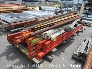 (1) Pallet of 7.5'-9'L Pallet Racking Sections