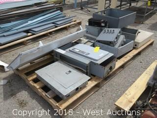Pallet of (8) Assorted Electrical Boxes & Safety Switches