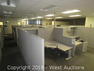 Bulk Lot: Approx. (52) Cubicle Walls