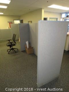 Bulk Lot: Approx. (9) Cubicle Walls