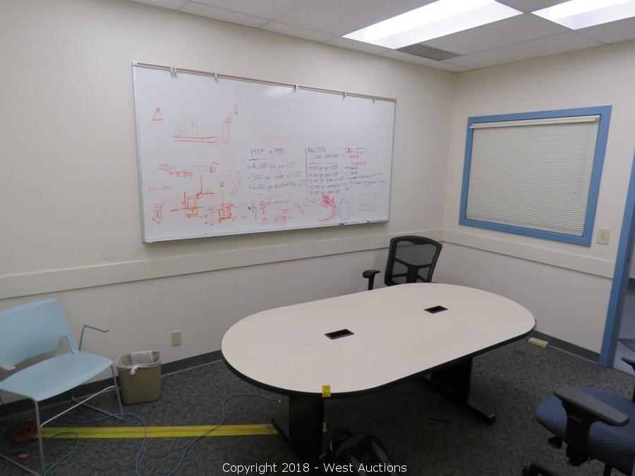 West Auctions Auction Auction Of Surplus Office Furniture And - Whiteboard conference table