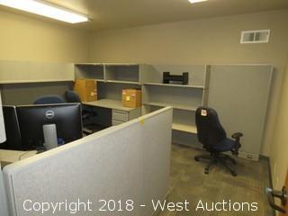 Bulk Lot; Cubicle Workstation, Desk and File Cabinets