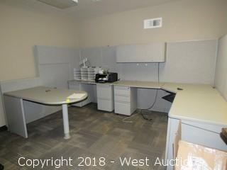Bulk Lot; Cubicle Workstation, Desk, Chair and File Cabinets