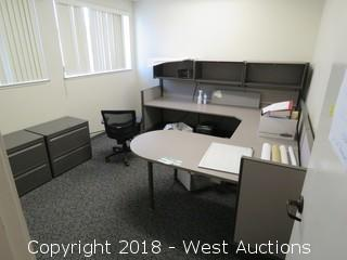 Office; Desk Cubicle, Office Chair, File Cabinets, Paper Shredder