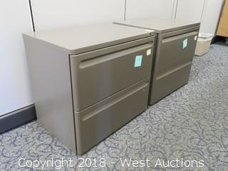 (2) Steel 2 Drawer File Cabinets