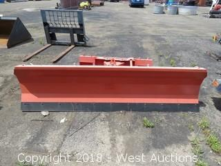 8' Skid Steer Snow Plow Attachment