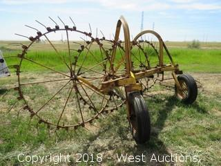 5-Wheel Hay Rake with Clevis Hitch