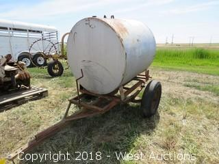 Trailer-Mounted Water/Chemical Tank