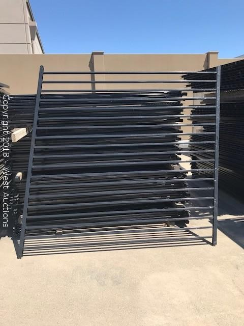 Auction of Black Steel Fence Panels