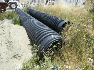 (4) Units of Corrugated Plastic Pipes