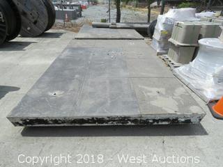 (3) Heavy Concrete Pads