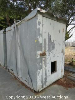 7.5' x 5' Craneable Tin Shed
