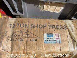Northern Industrial 12-Ton Shop Press