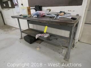 "Steel Work Table 6' x 30"""