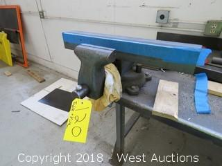 """Steel Work Table with 5"""" Shop Vise 6' X 3"""""""
