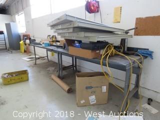 6' X 3' Steel Work Table