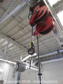 Lincoln 82206 Hose Reel with Lincoln 954 Meter