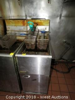Pitco Gas Fryer with (3) Frying Baskets