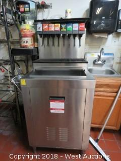 Cornelius 8-Heag Soda Dispenser with Ice Bin and Syrup Rack