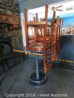 (2) Tables And (7) Wood Chairs