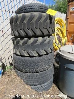 (6) Rubber Tires