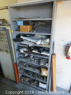 Metal Storage Cabinet with Machine Stock