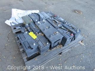 (14) 12-Volt Vehicle Batteries (Assorted Types)