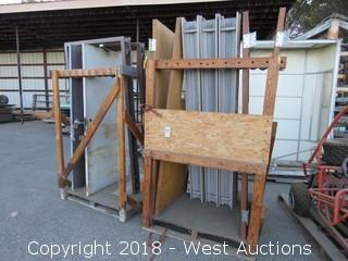 (4) Wooden Doors and Frames
