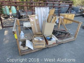 Bulk Lot: Door Bottom Shoes, Coil Nails, Assorted Electrical Cables