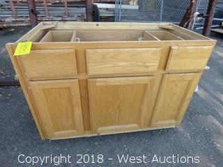 Wooden Bathroom Sink Cabinet