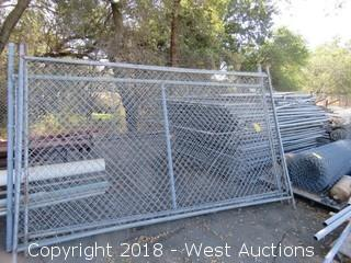 (30+) 6' x 12' Cyclone Fence Sections/Gates