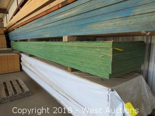 "(6) 32' X 32""to22"" X 2.25"" Thick Tappered Laminated Beam"