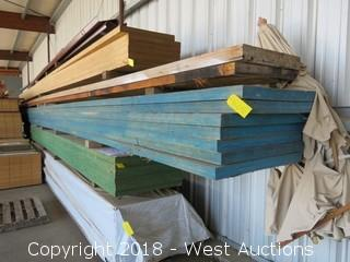 "(7) 40' X 22""to32"" X 2.25"" Thick Tappered Laminated Beams"