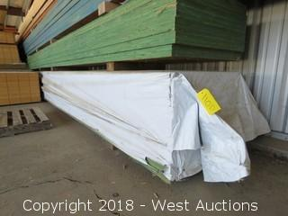 """(10) 32' X 32""""to22"""" X 2.25"""" Thick Tappered Laminated Beam"""
