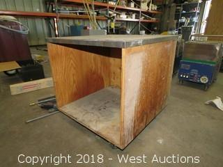 Portable Work Table 3-1/2' x 3-1/2'  x 3'