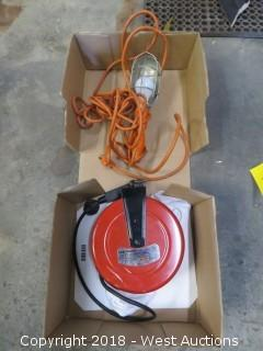 Craftsman 30' Outlet Reel with Lamp