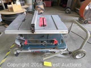 "Bosch 4100 10"" Workshop Table Saw with Gravity Rise Wheeled Stand"