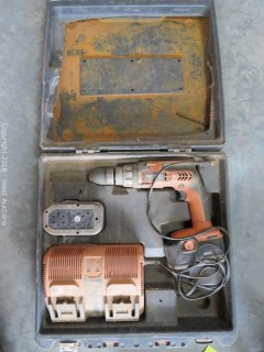 Ridgid Cordless Hammer Drill Set