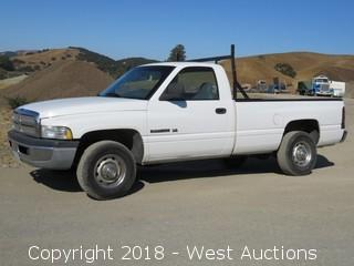 2001 Dodge Ram 2500 V8 Magnum Pickup Truck