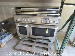 "Monogram 48"" LP Gas Professional Range with (6) Burners, (2) Ovens and Griddle"