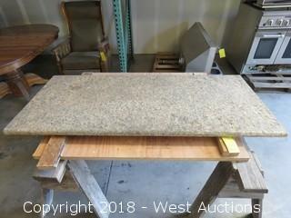 "Granite Slab 64.5"" × 28.5"""