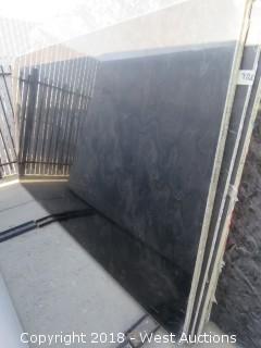 "Black Wood 111"" X 63"" 2cm Granite Slab"