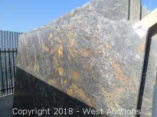 """Cosmic Gold 108"""" X 68"""" 2cm Granite Slab"""