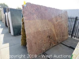 "Juperana Bordeaux 128"" X 77"" 2cm Granite Slab"