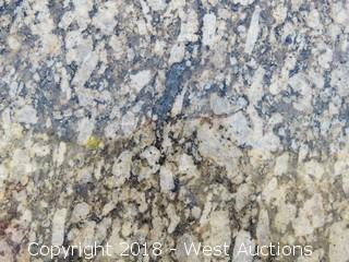 "Amarello 117"" X 80"" 2cm Granite Slab"