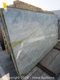 "Surf Green 125"" X 70"" 3cm Granite Slab"