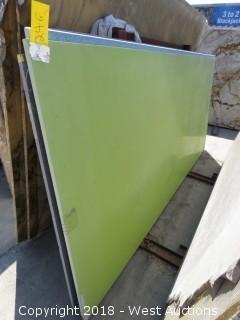 """Verde Fun 119"""" X 54"""" 2cm Quartz"""