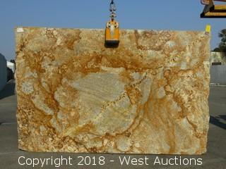 "Geriba Gold 112"" X 72"" 3cm Granite Slab"